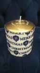 Свеча рождественская синяя Pernici