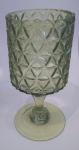 Подсвечник-ваза на ножке зеленый (стекло)