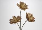 Ветка с тремя коричневыми цветами, высота 110 см