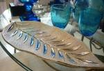 Керамическая чаша, длина 18 см