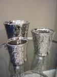 Набор кашпо серебряный