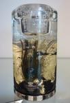Свеча-подсвечник с павлиньим пером. высота 14,5 см