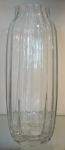 Ваза граненая, выдувное стекло, высота 40 см